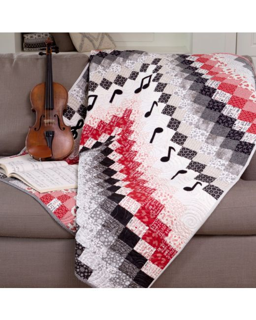 GO! Bargello Music Quilt Pattern| Accuquilt com