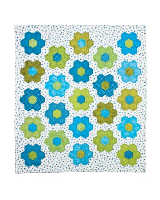 GO! Grandmother's Flower Garden Quilt Pattern to GO!