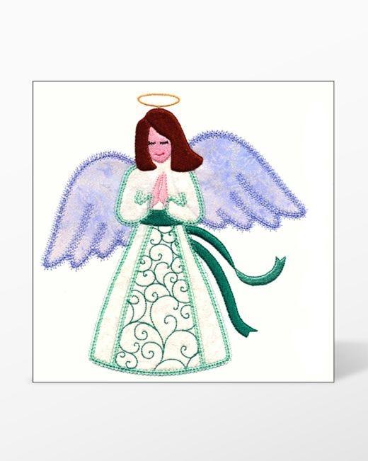 Go Angel Single 4 Embroidery Designs By V Stitch Designs