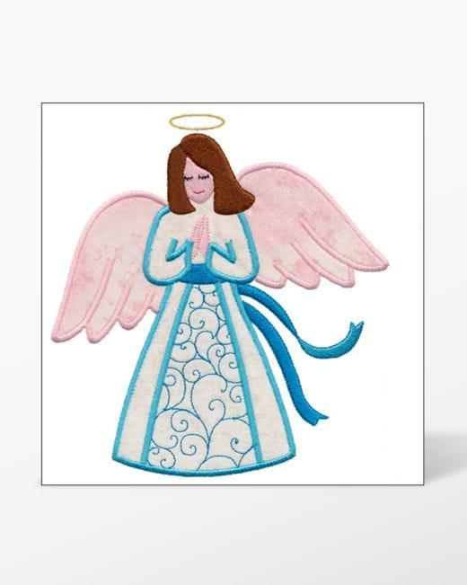 Go Angel Single 5 Embroidery Designs By V Stitch Designs