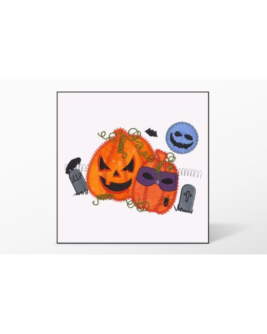 GO! Halloween Pumpkin Double Embroidery Designs by V-Stitch Designs
