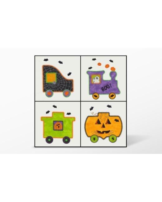 Go Halloween Train Embroidery Designs By V Stitch Designs