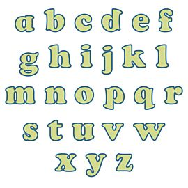 "Studio Carefree 1 1/2"" Lowercase Alphabet Die"