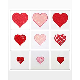 """GO! Heart-2"""", 3"""", 4"""" Embroidery Designs"""