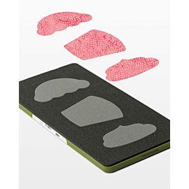GO! Cupcake fabric cutting die (55097) - packaging shown.