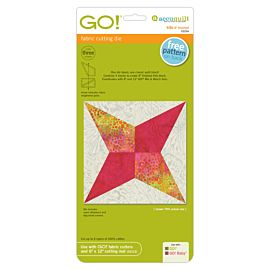"""GO! Kite-4"""" Finished fabric cutting die (55254) - packaging shown."""