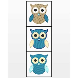 GO! Owl Embroidery Designs