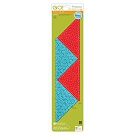 "GO!® Quarter Square-8"" Finished Triangle (55399)"