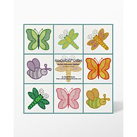 Collage of Critter Shapes in GO! Critters Embroidery Designs CD by Marjorie Busby (MBME55030)