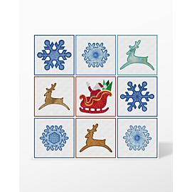 GO! Sleigh-Reindeer-Snowflakes Embroidery Designs by Marjorie Busby