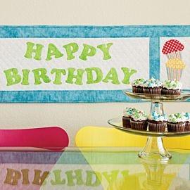 GO! Birthday Treats Table Runner Pattern (PQ10315)