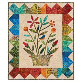 GO! Rainbow Bouquet Wall Hanging Quilt Pattern by Edyta Sitar