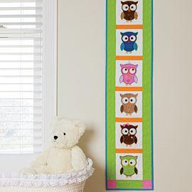 GO! Hoot Hoot Hooray! Wall Hanging Pattern (PQ10507)
