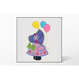 GO! Balloon Sunbonnet Sue Embroidery by V-Stitch Designs (VQ-BSB)