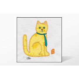 GO! Calico Cat Single #2 Embroidery Designs by V-Stitch Designs