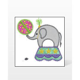 GO! Circus Elephant Embroidery Designs by V-Stitch Designs
