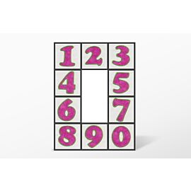 GO! Carefree Numbers #1 Embroidery Designs by V-Stitch Designs (VQ-CN01)