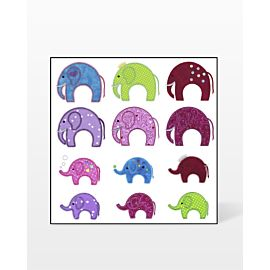 GO! Elephants Embroidery Designs by V-Stitch Designs