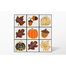 GO! Fall Medley Embroidery Designs by V-Stitch Designs (VQ-Fme)