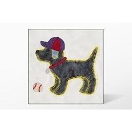GO! Gingham Dog Single #1 Embroidery Designs by V-Stitch Designs