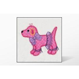 GO! Gingham Dog Single #2 Embroidery Designs by V-Stitch Designs