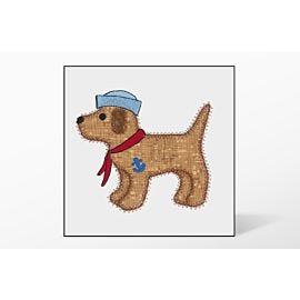GO! Gingham Dog Single #3 Embroidery Designs by V-Stitch Designs
