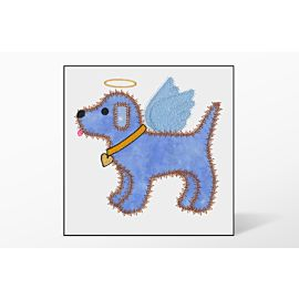 GO! Gingham Dog Single #5 Embroidery Designs by V-Stitch Designs