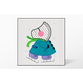 GO! Ice Skating Sunbonnet Sue Embroidery by V-Stitch Designs (VQ-ISSB)