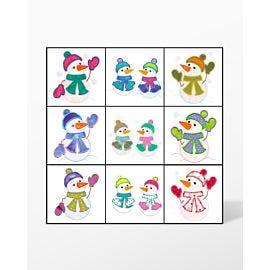 GO! Snow Kids Embroidery Designs by V-Stitch Designs