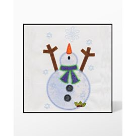 GO! Snowman Single #1 Embroidery Designs by V-Stitch Designs