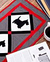 GO! Scottie Dog Table Runner Pattern