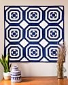 Studio Blue Pineapple Rings Throw Quilt Pattern