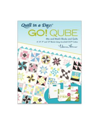 GO! Qube Mix & Match Blocks and Quilts Pattern Book by Eleanor Burns-2nd Edition (1091)