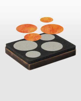 "Studio Circles-Penny Rug-1 1/2"", 1 3/4"", 2 1/4"", 2 1/2"""