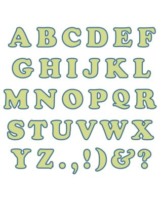"Studio Carefree 1 1/2"" Uppercase Alphabet"