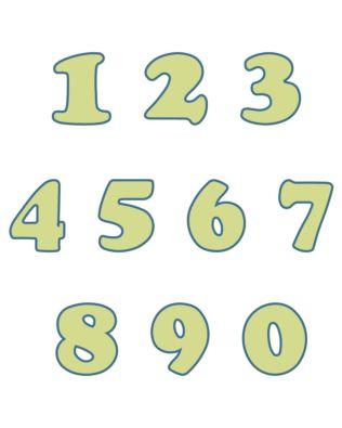 "Studio Carefree 1 1/2"" Numbers"