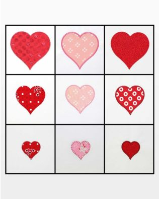 "GO! Heart-2"", 3"", 4"" Embroidery Designs"