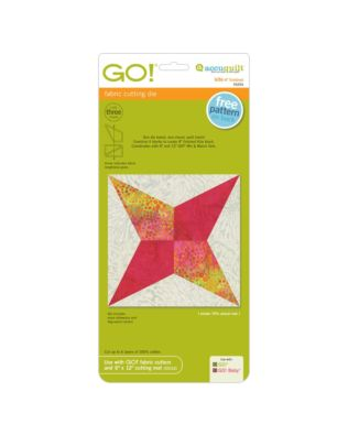 "GO! Kite-4"" Finished fabric cutting die (55254) - packaging shown."