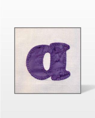 GO! Carefree Alphabet Lowercase Set Embroidery Designs