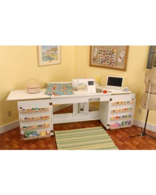 Arrow Bertha (White) Sewing Cabinet