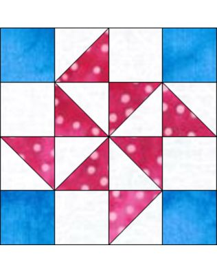 "GO! Flying X 8"" Block Pattern"