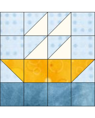 "GO! Boat 12"" Block Pattern (PQ10443)"