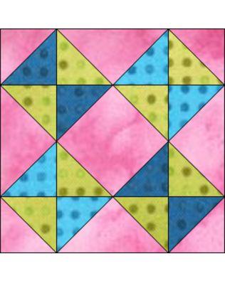 "GO! Broken Dishes 8"" Block Pattern"