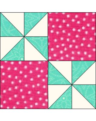 "GO! Flashing Windmills 8"" Block Pattern"