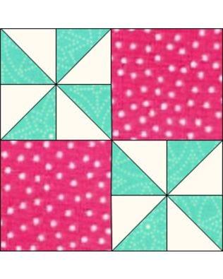 "GO! Flashing Windmills 12"" Block Pattern (PQ14052)"