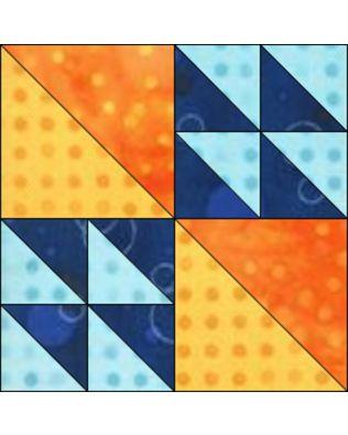 "GO! Flock of Geese 12"" Block Pattern (PQ10453)"