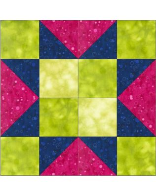 "GO! 4-Patch Star 12"" Block Pattern (PQ10458)"