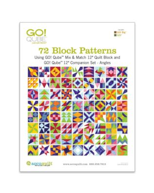 "GO! Qube 12"" Companion Set Angles-72 Block Patterns Booklet"