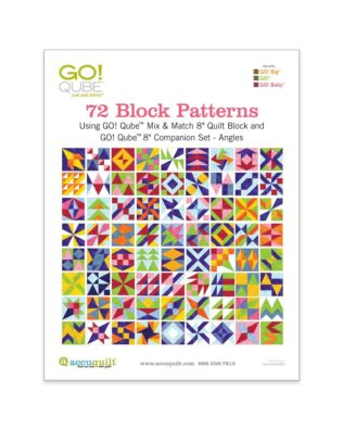 "GO! Qube 8"" Companion Set Angles-72 Block Patterns Booklet"