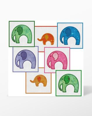 GO! Elephant Parade Embroidery Designs by Marjorie Busby (BQ-EPe)